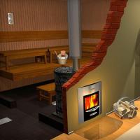Примеры работ по установке банных печей в загородном доме