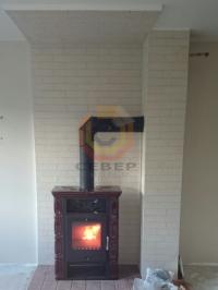 Подключение камина к дымоотводящей системе Schiedel Uni 16
