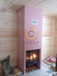 Монтаж гипсокартонного каминного короба для Jotul i18 и распределение тёплого воздуха по помещениям