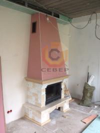 Сборка каминной облицовки и монтаж конвекционного короба над камином