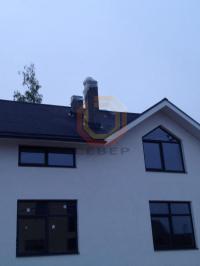 Установка керамической дымоходной системы Schiedel Uni 20