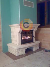 Воздушное отопление дома на базе каминной топки Invicta