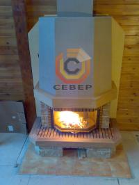 Воздушное отопление дома на базе французского камина Richard Le Droff Gold