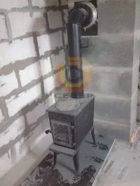 Подключение камина Jotul F602 к дымоходу Schiedel