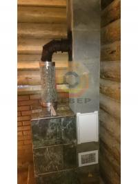Сборка одноканального дымохода Schiedel Uni 14 для банной печи Куткин