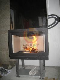 Сборка камина Jotul I570 без без облицовки
