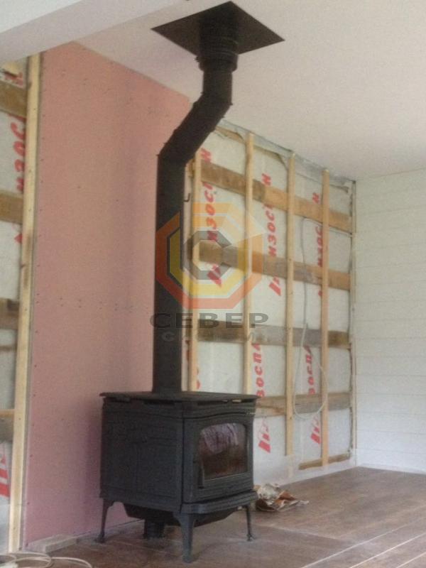 Смещение дымохода камина деревянные перекрытия дымоход