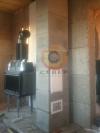 Сборка одноходового керамического  дымохода с вентканалом для каминной топки Jotul I570