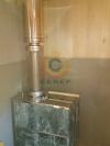 Установка банной печи Куткин в змеевике и дымоходной системы Вулкан