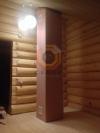 Установка банной печи Куткин в двухэтажном доме