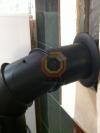 Подключение камина регулируемым отводом из стали