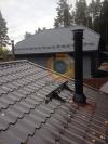 Установка печи-камина Alderlea T5 Black Matte и дымоходной системы Schiedel Permetr