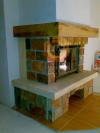 Воздушное отопление дома на базе каминной топки Keddy в модульной облицовке