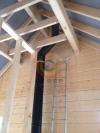 Установка дымоходной системы Schiedel Permetr Black внутри загородного дома