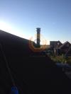 Монтаж прохода через мансарду дымоходом Shiedel Permetr