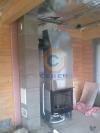 Подключение камина одностенными поворотными элементами к дымоходу Schiedel UNI 20