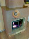 Воздушное отопление дома на базе каминной топки Keddy