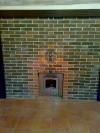 Установка банной печи Harvia c кирпичной противопожарной разделкой