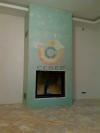 Пристенная установка камина в теплоизолированный конвекционный короб