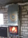 Подключение камина Jotul I18 к дымоходу Schiedel