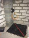 Изготовление основания под печь-камин из натурального камня у дымохода Шидель Юни