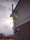 "Монтаж дымохода на базе труб типа ""сендвич"" по фасаду здания"