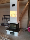 Воздушное отопление дома на базе каминной топки Jotul i520 FRL