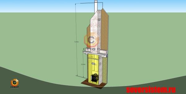 Проектирование камина и дымохода