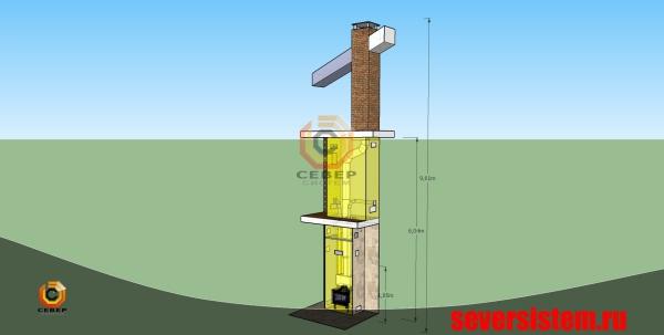 Проектирование камина для загородного деревянного дома