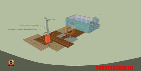 Эскиз дымохода для отопительного котла