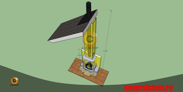 Проектирование камина на базе чугунной топки Jotul I18